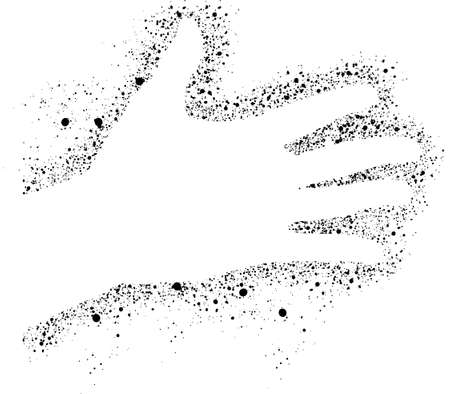 Hand Sprayed Vector