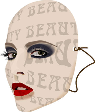 Beauty Mask Stock Vector - 2580480