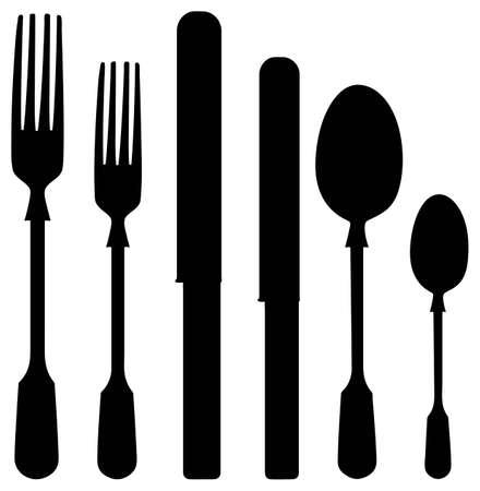 Vector cutlery.