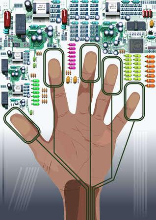 Hand Print Illustration