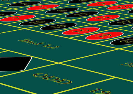 roulette table: A vector roulette table.