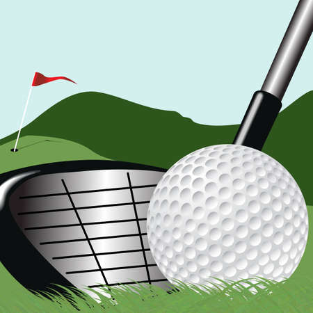 Vector Golf Square Illustration