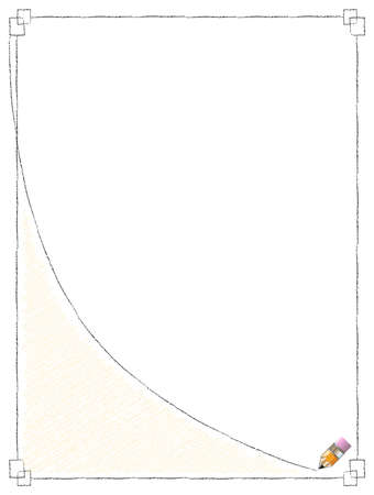 Pencil Line Frame Vector