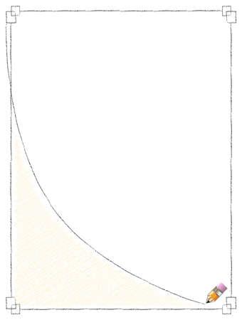 Pencil Line Frame Vector