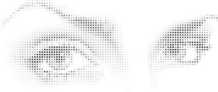 sehkraft: Augen aus einem Mosaik pattern Sternen.