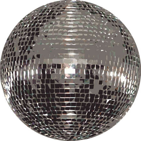 reflection in mirror: Mirror Ball