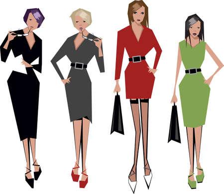 angular women Illustration
