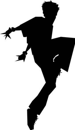 an angular break dancer (vector) Vector