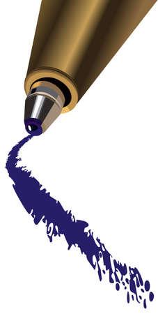 a ballpoint pen drawing a line Vector