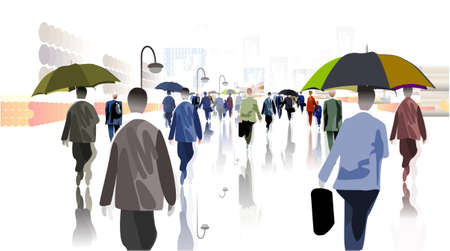 city rain photo