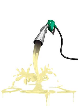biodiesel: diesel fuel oil gas petrol pump Stock Photo