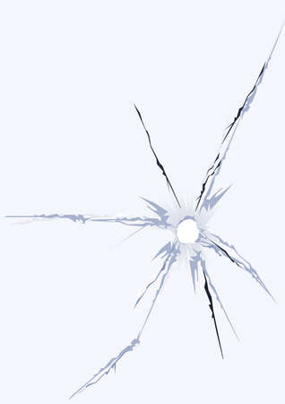 broken glass hole window fracture Stock Vector - 4297714