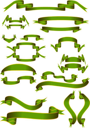scroll up: banner ribbon st patrick green gold scroll irish