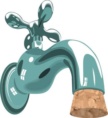 lavabo: grifo de agua del grifo fregadero fontaner�a corcho