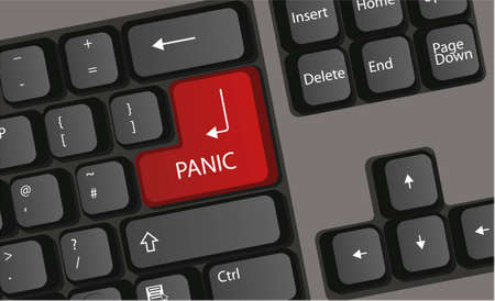 keyboard press panic button computer vector