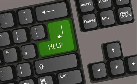 business stress: bot�n de p�nico equipo vector de prensa de teclado