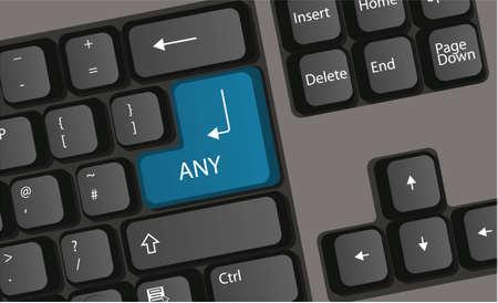 panic button: Premere la tastiera del computer tasto panico vettoriale Vettoriali