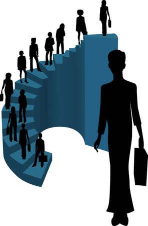 stair: �xito del negocio Vectores