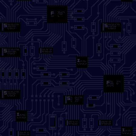 solder: circuit blue tile background