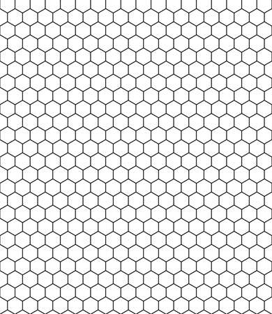 repeating pattern: honeycomb pattern black white Illustration
