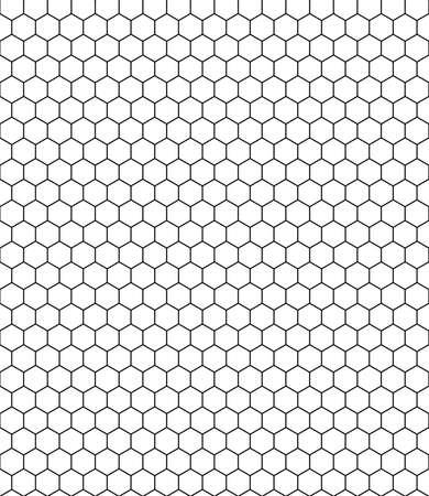 nid d'abeille modèle noir blanc