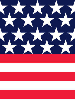 stars stripes pattern tile background (both parts of the pattern are repeating) Illustration