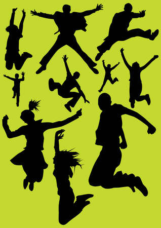 jumping silhouettes  Stock Vector - 6722116