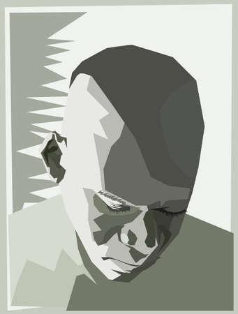 hombre solitario: tristeza angular  Vectores