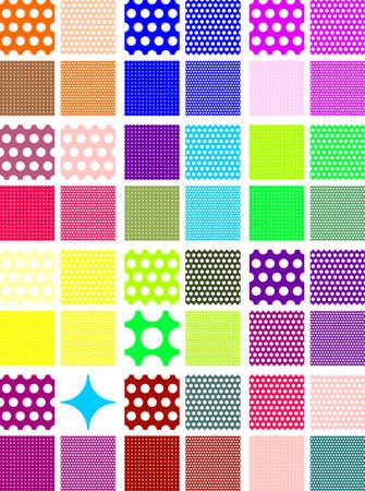 seamless polka dot patterns Illustration