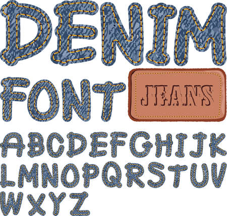 denim fabric: denim font