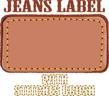 threadbare: Jeans etichetta Vettoriali