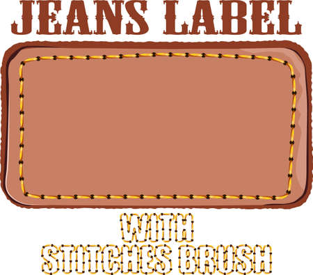 jeans background: jeans label