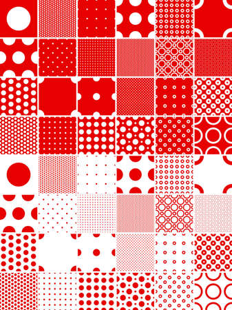seamless polka dot patterns --- contains global color and can be easily edited