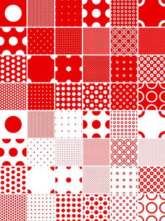 red polka dots: sin fisuras lunares patrones---contiene color global y puede modificarse f�cilmente