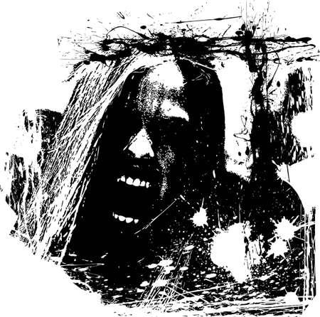 scary face: zombie horror
