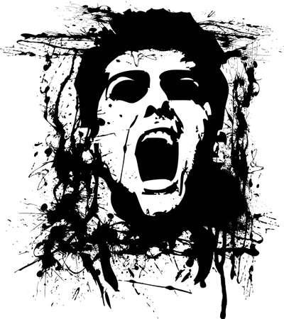graffiti background: zombie horror
