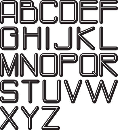 embossed: embossed alphabet