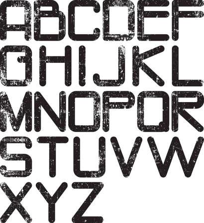 spattered: grunge alphabet Stock Photo