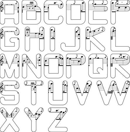 quavers: alphabet music