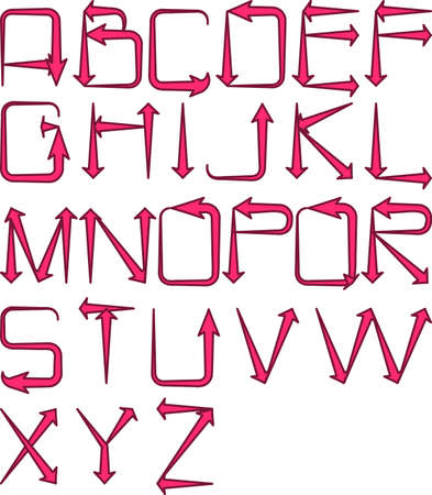 fundamentals: pink arrow alphabet