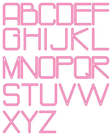 alphabet neon photo