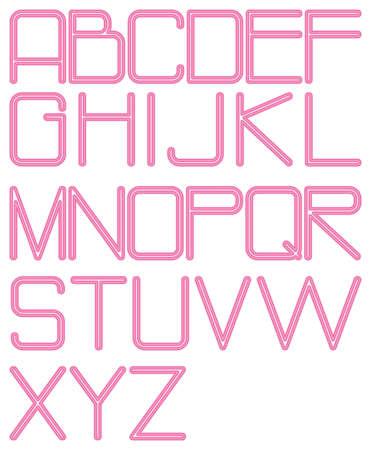 twenty four hour: alphabet neon