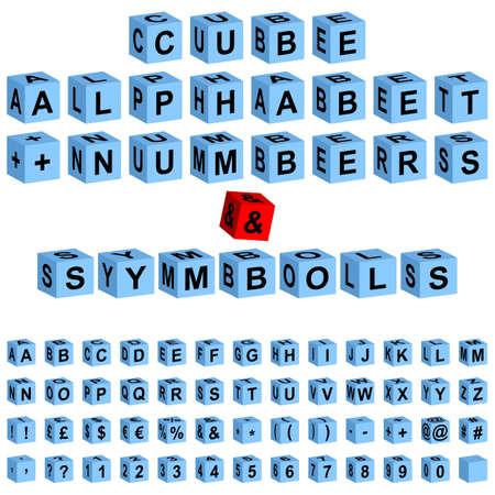 crossword puzzle: cube alphabet + numbers