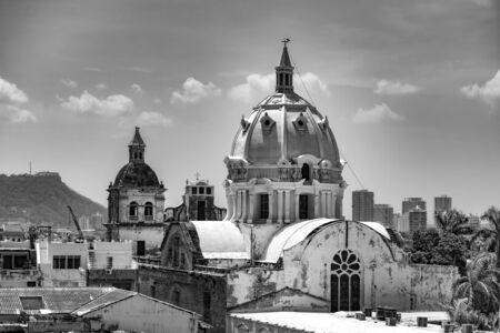 San Pedro Craver church domes in Cartagena Colombia