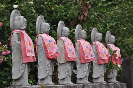 jizo: Japanese Jizo statues Stock Photo