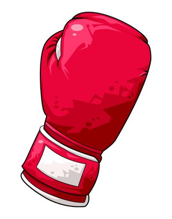 boxing glove: Computer generated illustration of a red boxing glove