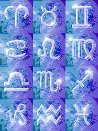 Computer gegenereerde afbeelding. Zodiac tekenen Stockfoto