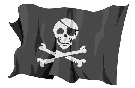 jolly:  Flag series: Jolly Roger - Pirate flag