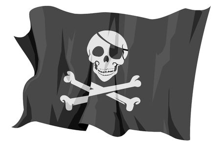 Vlag serie: Jolly Roger - Piraten vlag