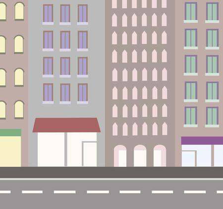 overlook: An urban street -  generated illustration Stock Photo